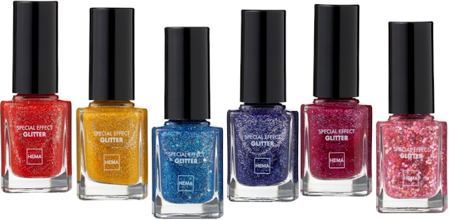 HEMA Special effect nail polishes - Glitter