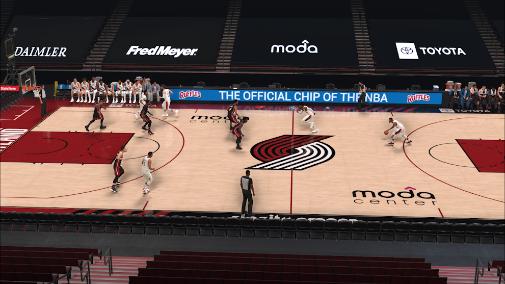 NBA 2K21 Portland Trailblazers Covid/No Crowd Court RELEASED by GojoSensei