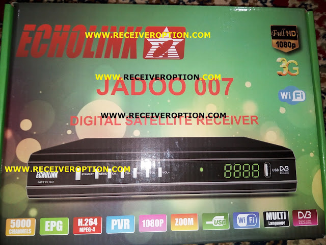 ECHOLINK JADOO 007 HD RECEIVER CCCAM OPTION