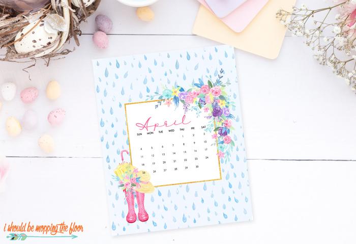 Free April Printable Calendar