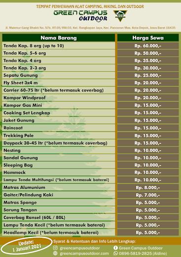 List Item Green Campus Outdoor Depok_outdoor_hiking_camping_gunung