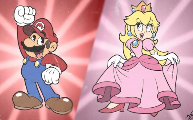 Artista reimagina personagens de Super Smash Bros. utilizando os traços de Cuphead