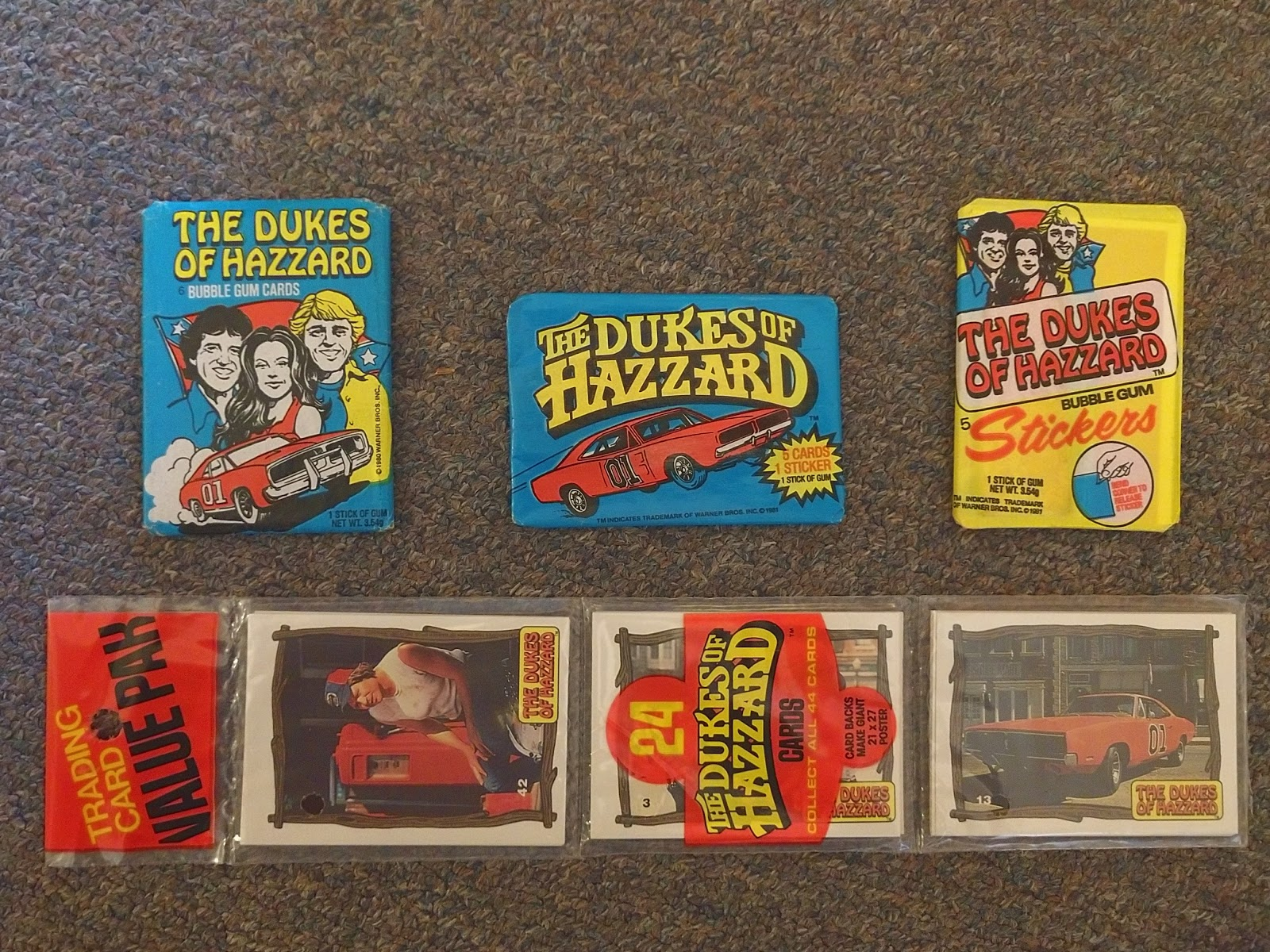 1980/'s The Dukes of Hazzard Trading Sticker Pack