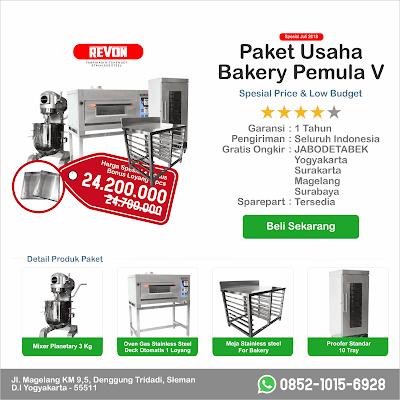 Paket Usaha Bakery Pemula Level & Menegah