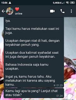 Chat dari Kesayanganku dik Titim Matun Nasriyah
