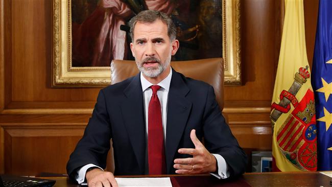 Spain's King Felipe VI  accuses Catalan leaders of disloyalty