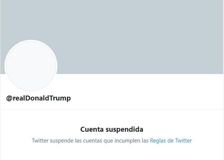 Twitter suspende Cuenta @realDonaldTrump Suspendida