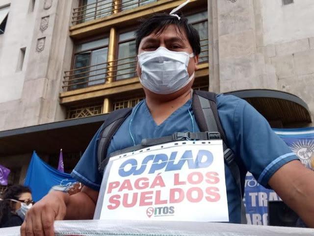 Trabajadores de la Osplad paran hoy y mañana en demanda del cobro íntegro de salarios