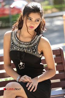 Actress Poojitha Pallavi Naidu Stills in Black Short Dress at Inkenti Nuvve Cheppu Movie Platinum Disc Function  0159.JPG