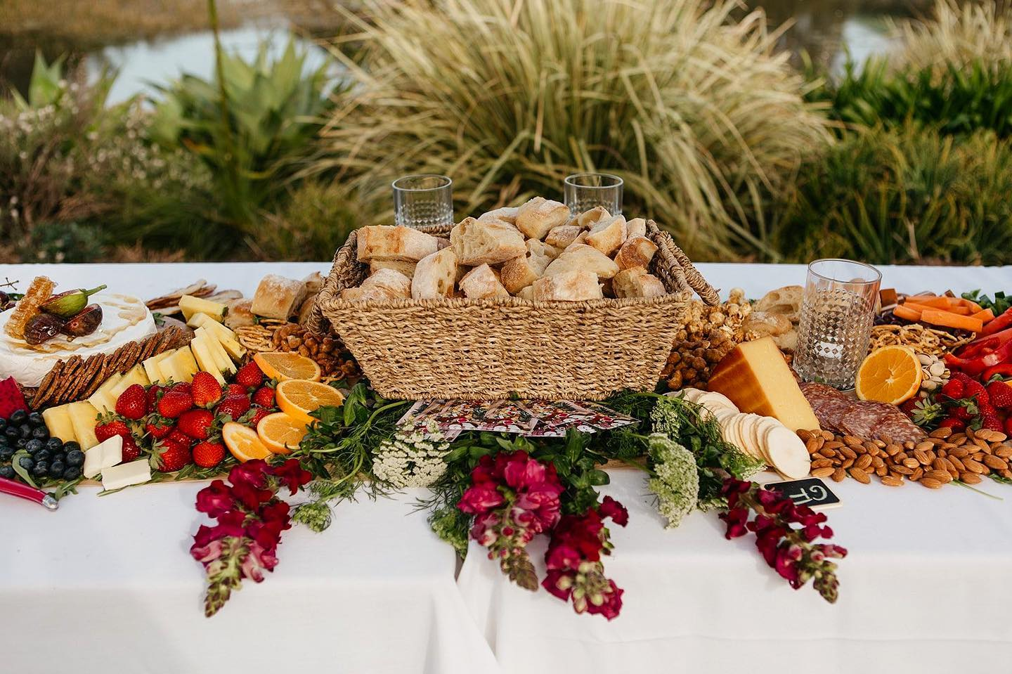 image by stories by ash photography byron bay wedding grazing tables catering boards food