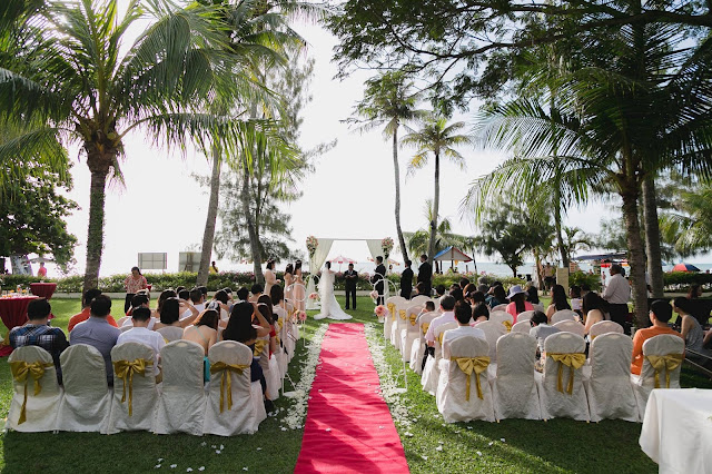 beach wedding penang golden sands resort malaysia