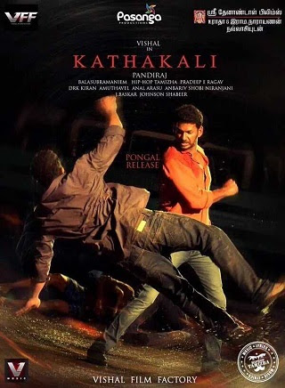 Poster Of Kathakali 2016 Full Movie In Hindi Dubbed Download HD 100MB Tamil Movie For Mobiles 3gp Mp4 HEVC Watch Online