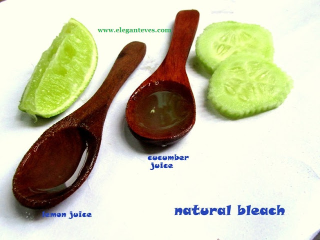 natural bleach cucumber lemon