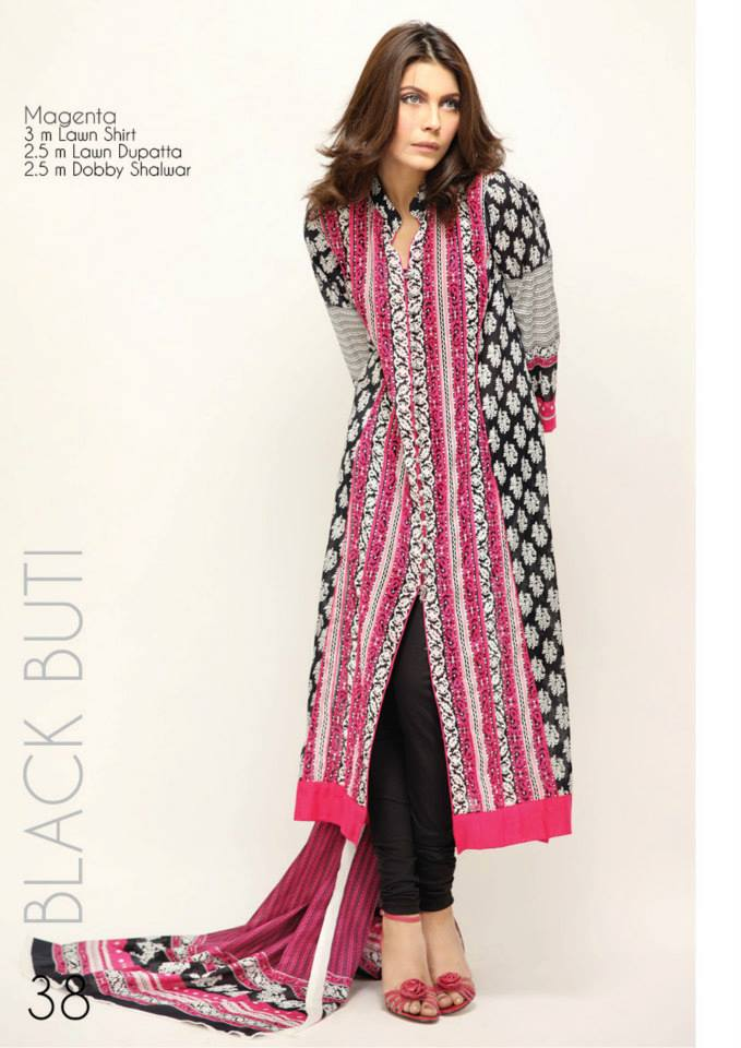 Orient Textile Latest Collection For Fall Winter 16: Fashion And Styles: Black & White Lawn Summer Dresses