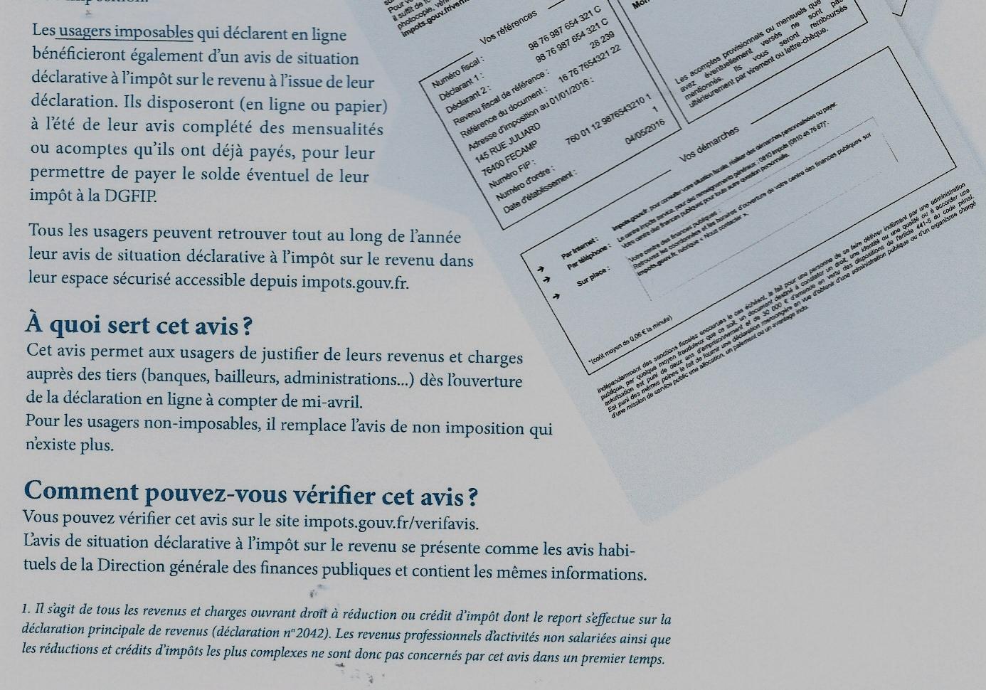 Notre Dame D Oe Finances Publiques L Avis De Situation Declarative