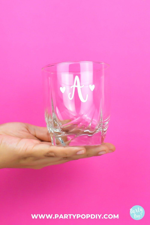 vaso con vinil