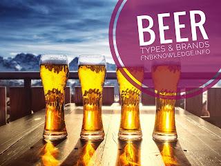 Beer types & brands