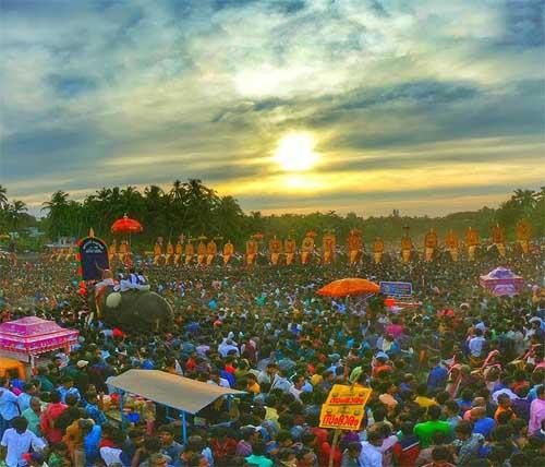 Parkkadi Bhagavathy Temple Pooram Festival