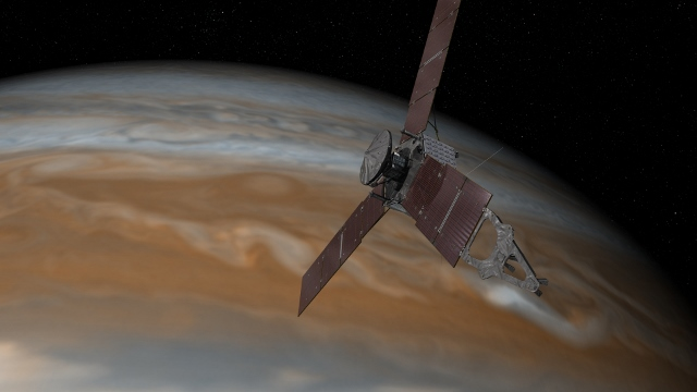 NASA's Juno Spacecraft In Polar Orbit Around Jupiter