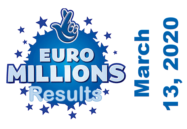 EuroMillions Results for Friday, March 13, 2020