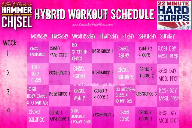 Chisel and 22 Minute Hard Corps Hybrid Schedule