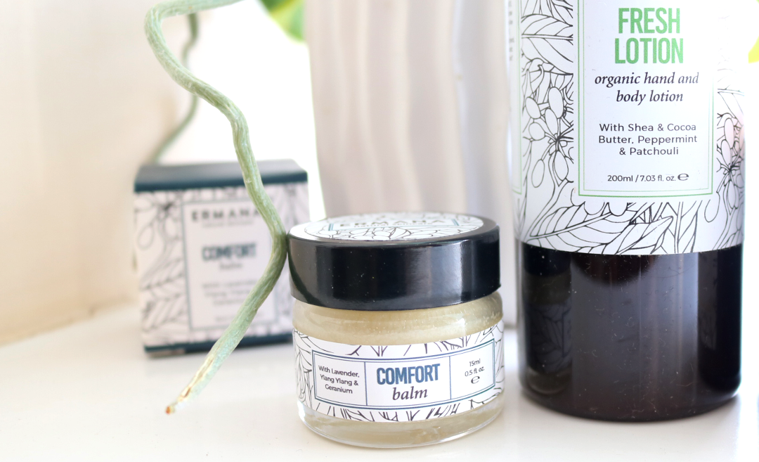 Ermana Natural Skincare - Comfort Balm, Fresh Body Lotion & Refresh Candle review