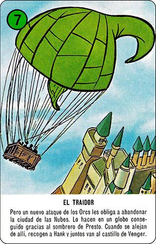 Baraja Dragones y mazmorras Heraclio Fournier Carta verde 7