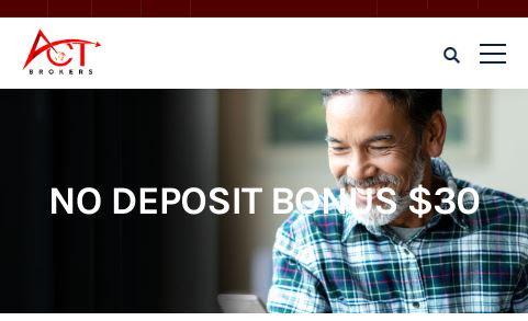 ACT Markets $30 Forex No Deposit Bonus