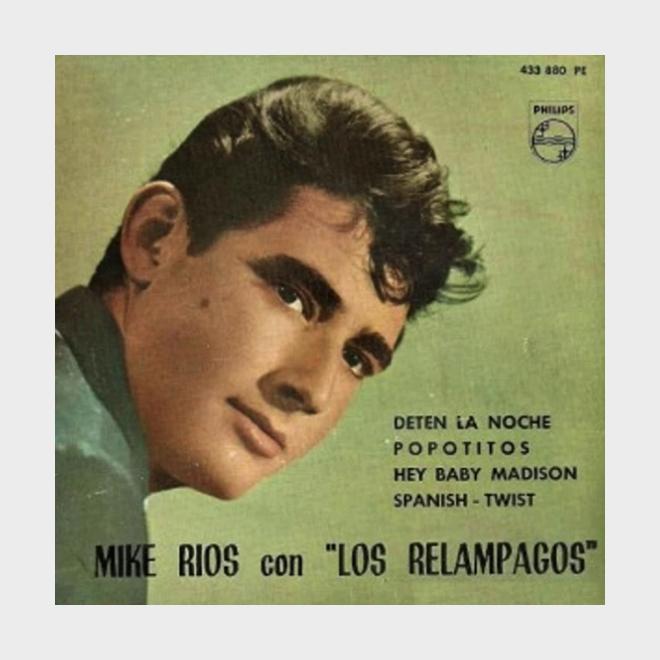 Portada del primer disco de Mike Ríos con los Relámpagos