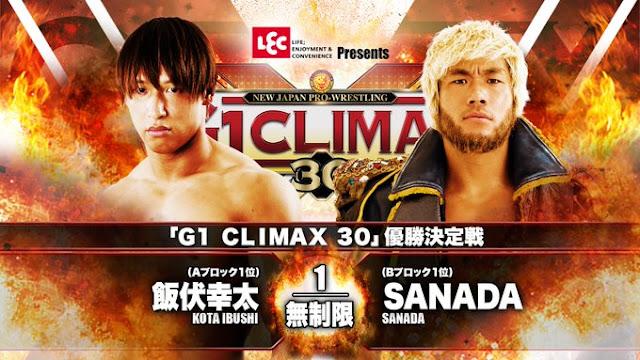 """Cobertura: NJPW G1 CLIMAX 30 – Finals – """"Uma nova chance"""""""