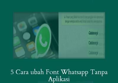 Ubah font whatsapp