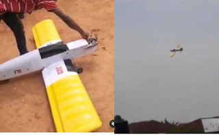 FUTO Student Test Runs An Aeroplane He Built For His Final Year Project (Video)