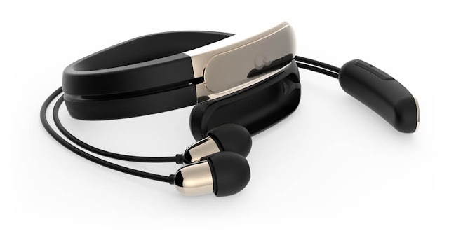 HELIX: Wearable Cuff with Wireless Bluetooth Headphones