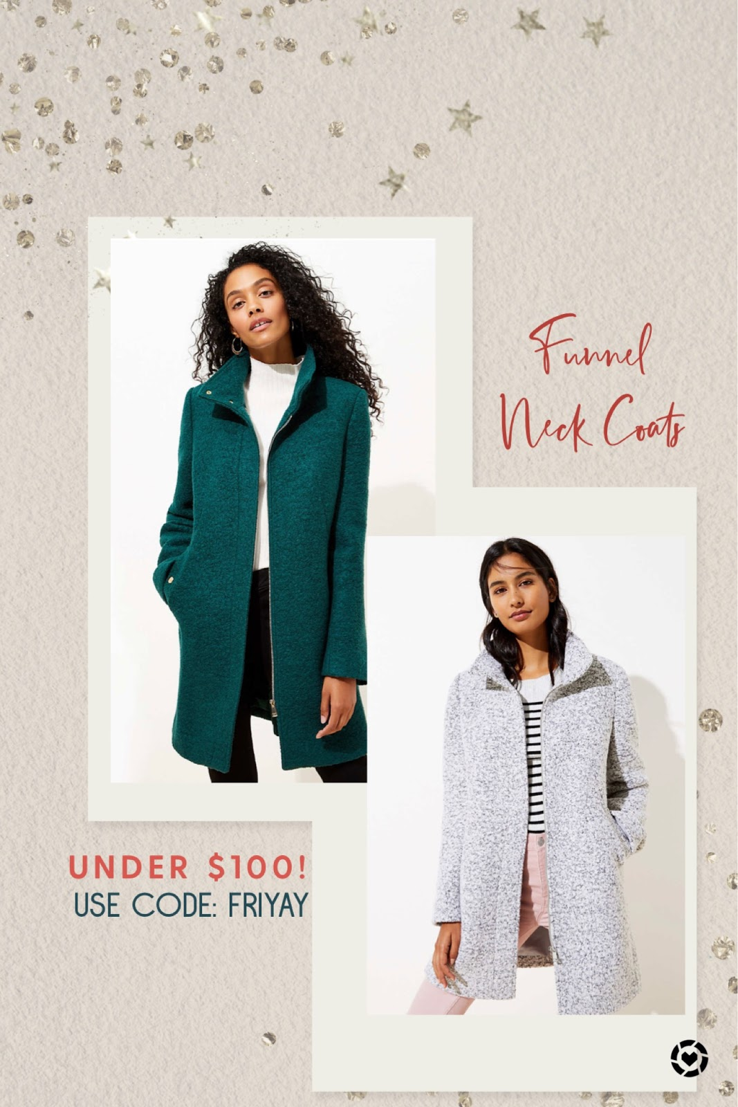 Black Friday Sales and Cyber Monday Deals 2019 | Funnel Neck Coats at LOFT Cyber Monday Deals 2019