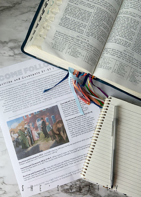 Come Follow Me weekly printable with scriptures.