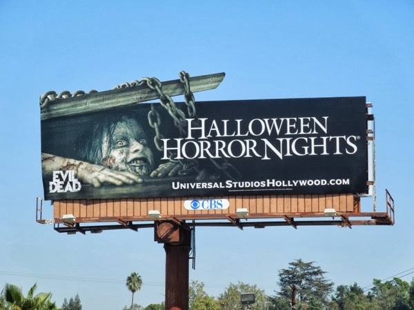 Evil Dead Halloween Horror Nights billboard