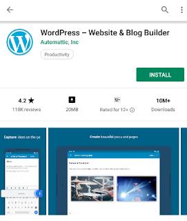 Cara Menggunakan Wordpress di Android