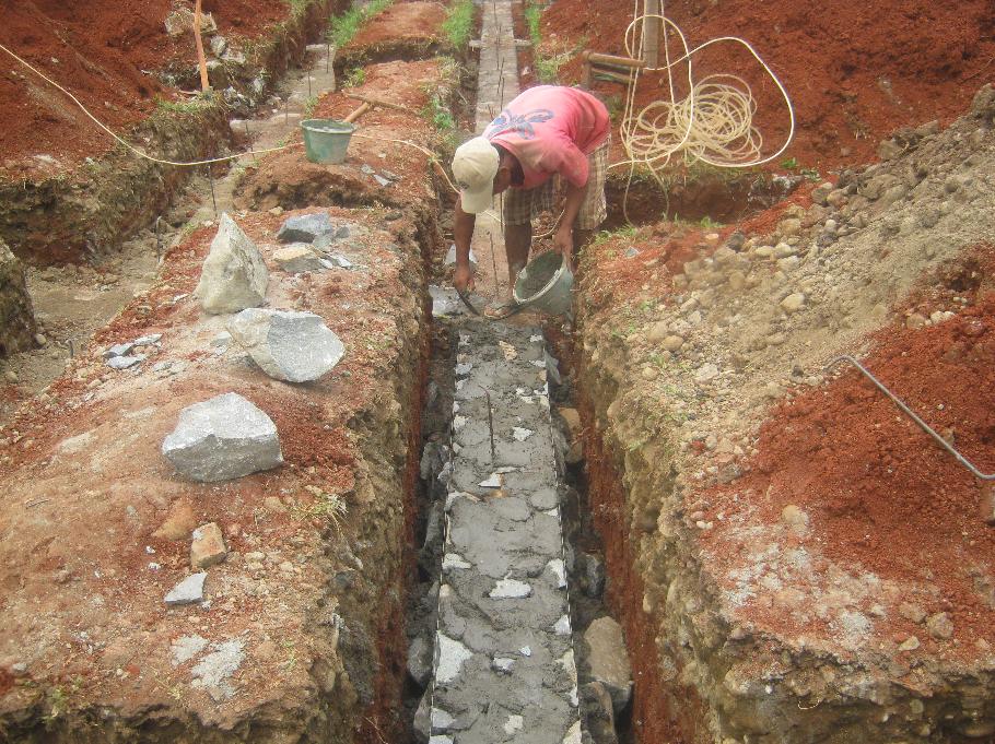 Merencanakan dan menentukan ukuran pondasi batu kali ...
