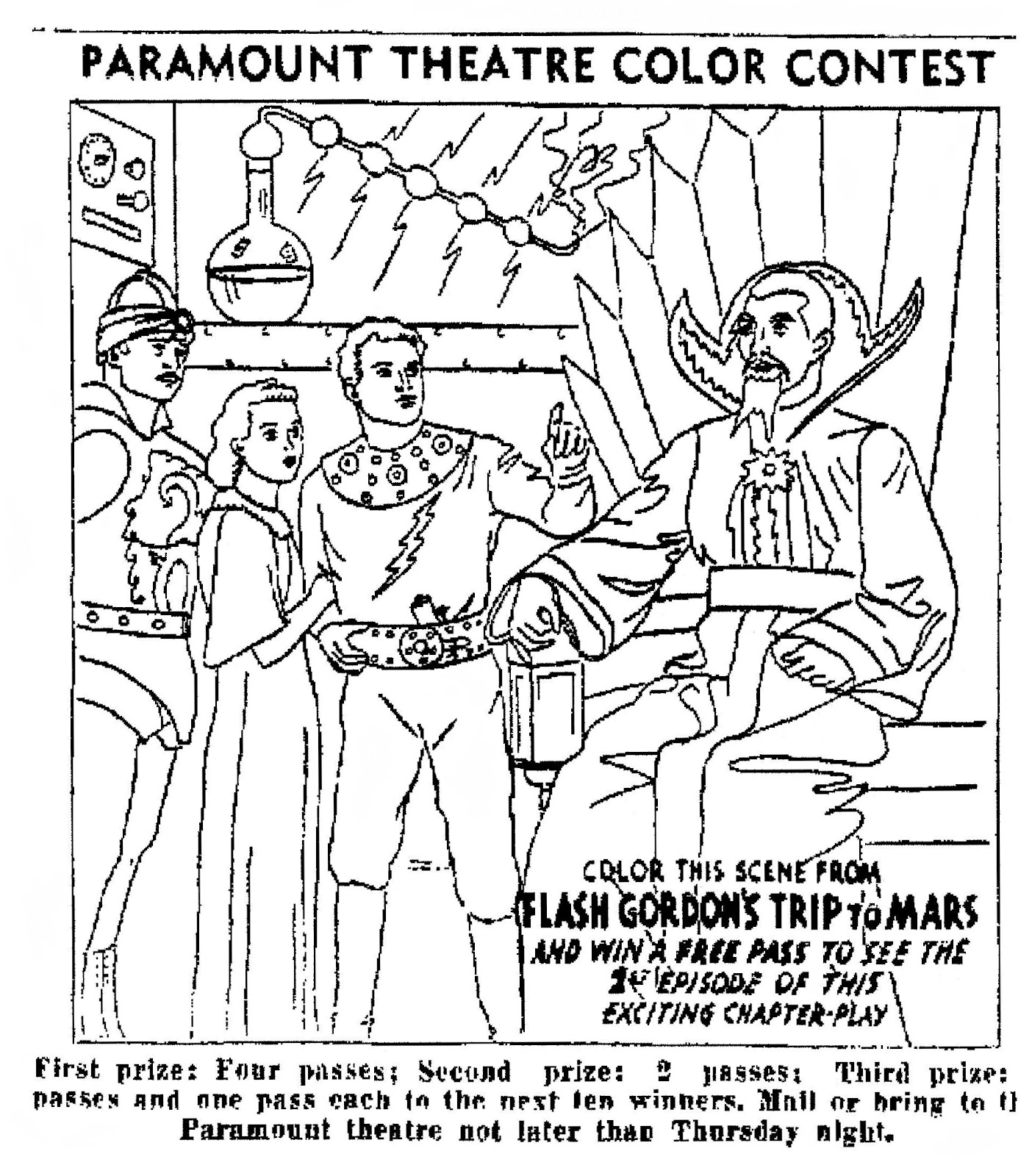 flash gordon coloring pages free - photo#34