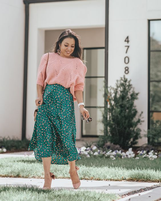GREEN AND PINK OUTFIT TRENDS