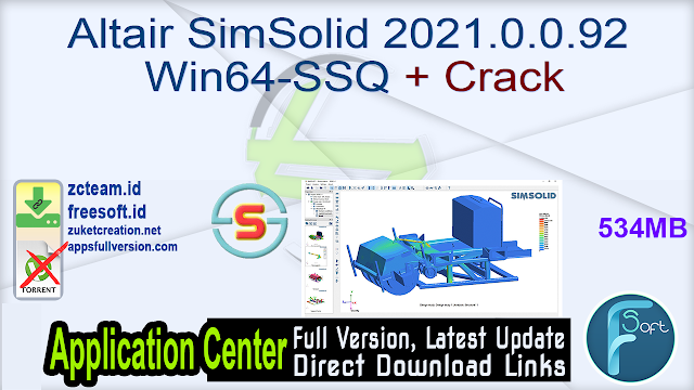 Altair SimSolid 2021.0.0.92  Win64-SSQ + Crack_ ZcTeam.id