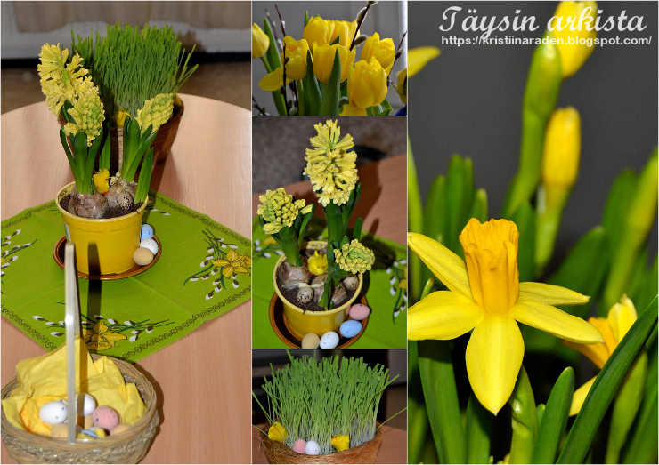 Easter flowers collage
