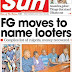 NAIJA NEWSPAPERS: TODAY'S THE DAILY SUN NEWSPAPER HEADLINES [20 OCTOBER, 2017]