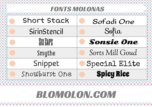 fonts molonas 16
