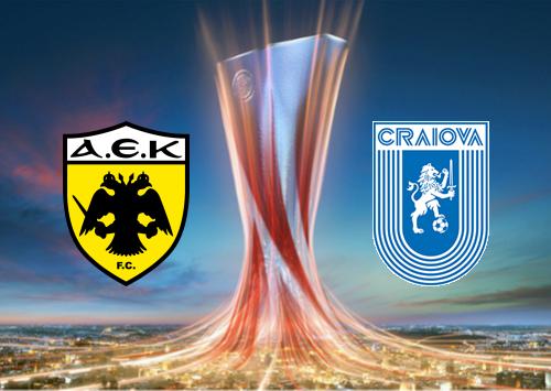 AEK Athens vs Universitatea Craiova -Highlights 15 August 2019