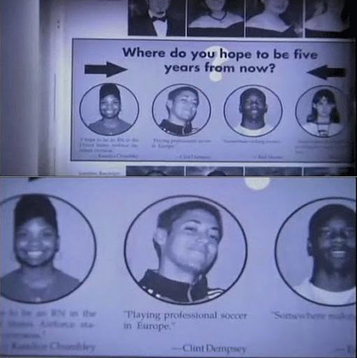 Clint Dempsey in Nacogdoches High School yearbook