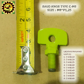 Contoh Baut Knob Plat Besi Type C-M8xP1,25