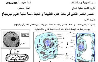 اختبار-الفصل-الثاني-في-مادة-علوم-الطبيعة-الثانية-بكالوريا
