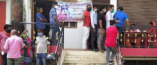 स्वास्थ्य केन्द्र कटघरा में टीकाकरण के लिये लोगों की रही भीड़ | #NayaSaberaNetwork