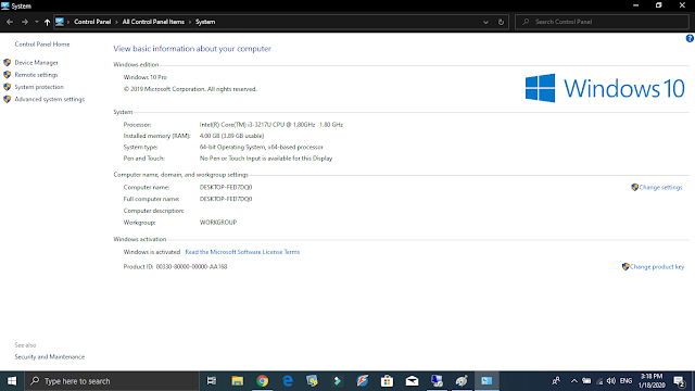 تحميل وندوز 10 برو iso اخر تحديث شهر يناير 2020  تنزيل اخر اصدار من Windows 10 Pro اصلية